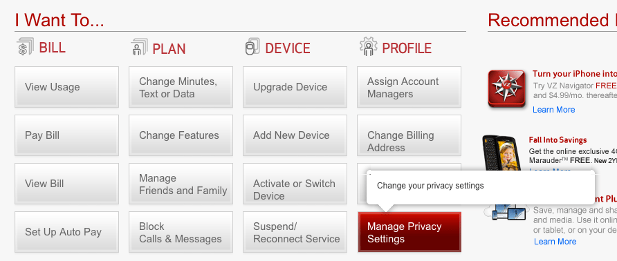 How to stop Verizon from selling your information to marketers
