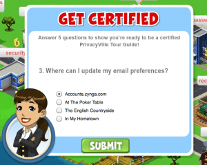 Zynga privacyville example question
