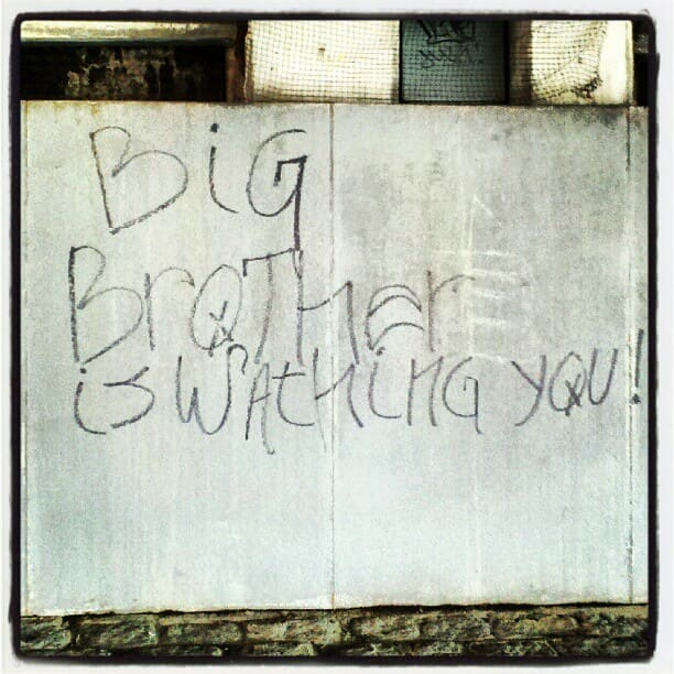 Big Brother graffiti