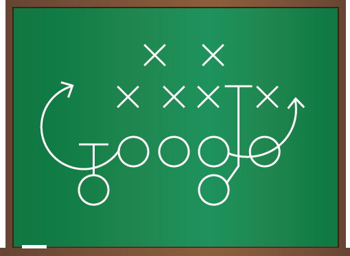 Varsity football play Google logo