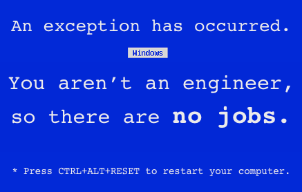 no jobs for non-engineers