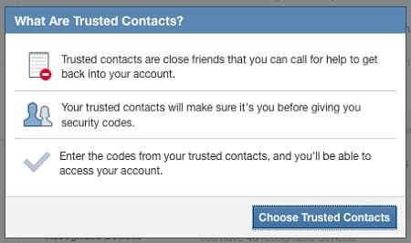 Facebook trusted contacts 1